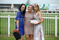 Press Eye - Belfast - Northern Ireland - 7th May 2018  - . May Day Meeting at Down Royal Racecourse.. Emma Ward, Shannon Kennan and Emma Devlin pictured at the County Down racecourse.. Photo by Kelvin Boyes / Press Eye .