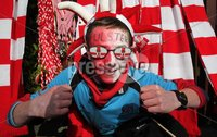 ©Press Eye Ltd Northern Ireland -28th April 2012. Mandatory Credit - Picture by Darren Kidd/Presseye.com .  . HEINEKEN CUP SEMI-FINAL: ULSTER V EDINBURGH, AVIVA STADIUM, DUBLIN..  Ulster fan Adam Brown from Saintfield at the Aviva Stadium ahead of Saturday\'s Heineken Cup semi-final