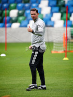Press Eye - Belfast, Northern Ireland - 01st September 2020 - Photo by William Cherry/Presseye. Northern Ireland manager Ian Baraclough during Tuesday mornings training session at the National Stadium at Windsor Park, Belfast ahead of Friday nights Nations League game in Romania.    Photo by William Cherry/Presseye