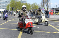 13th April 2019. Hundreds of pictured at the annual Easter egg ride out in aid of the Royal Children\'s hospital.. Mandatory Credit -Presseye/Stephen Hamilton .
