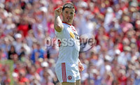 Ulster GAA Senior Football Championship Final, St Tiernach\'s Park, Clones, Co. Monaghan 16/7/2017. Down vs Tyrone. Tyrone\'s Ronan O\'Neill celebrates scoring a goal. Mandatory Credit ©INPHO/Morgan Treacy