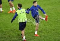 Press Eye - Belfast -  Northern Ireland - 11th November 2017 - Photo by William Cherry/Presseye. Northern Ireland\'s Paul Paton during Saturday nights training session at St. Jakob-Park ahead of Sunday nights World Cup Play Off against Switzerland in Basel.