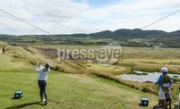 2018 Dubai Duty Free Irish Open - Day 1, Ballyliffin Golf Club, Co. Donegal 5/7/2018. Matthew Fitzpatrick tees off on the seventh hole. Mandatory Credit ©INPHO/Oisin Keniry