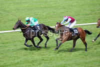 Press Eye - Belfast - Northern Ireland - 7th May 2018  - . May Day Meeting at Down Royal Racecourse.. SEAN GRAHAM BOOKMAKERS HANDICAP HURDLE. Castle Clyde ridden by Andrew Lynch beats I\'ve Got Rhythm ridden by Ricky Doyle. Photo by Kelvin Boyes / Press Eye .