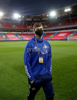 Press Eye - Belfast, Northern Ireland - 13th October 2020 - Photo by William Cherry/Presseye. Northern Ireland\'s Paddy McNair during Tuesday nights walk around the Ullevaal Stadium pitch at ahead of Wednesdays UEFA Nations League game against Norway in Oslo. Photo by William Cherry/Presseye