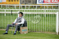 Press Eye - Belfast - Northern Ireland - 7th May 2018  - . May Day Meeting at Down Royal Racecourse.. A racegoers enjoys the weather at the County Down racecourse.. Photo by Kelvin Boyes / Press Eye .