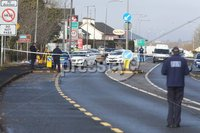 Press Eye - Belfast - Northern Ireland - 11th March 2018 . The scene at Bridgend, on the Donegal/ Derry border following a fatal accident in the early hours of Sunday morning. Mandatory Credit Lorcan Doherty.
