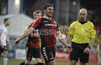12th December  2020. Danske Bank Irish premier league match between Crusaders and Portadown at Seaview Belfast. Crusaders  Philip Lowry celebrates are scoring . Mandatory Credit   Inpho/Stephen Hamilton