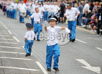 Press Eye - Belfast - Northern Ireland - 12th July 2018. Annual Orange Order parade takes place in Belfast with lodges and bands making their way through the city centre to the field at Shaws Bridge. . . Picture by Jonathan Porter/PressEye