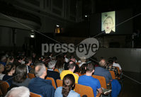 Press Eye - Belfast - Northern Ireland - 14th September 2019. Opponents of a no-deal exit will gather in the Ulster Hall this Saturday for the Let Us Be Heard event.  A line-up of speakers from business and across the political spectrum in Northern Ireland and the UK spoke about their opposition to the decision by Boris Johnson\'s government to prorogue Parliament for five weeks in the crucial period leading up to the Brexit deadline of October 31.  Speakers at the event included former attorney general Dominic Grieve MP, one-time Labour spin doctor Alastair Campbell and former GAA player John McAreavey with a video message from Derry Girls star Siobhan McSweeney.. Derry Girls star Siobhan McSweeney speaks through a  a video message at the event. . Picture by Jonathan Porter/PressEye