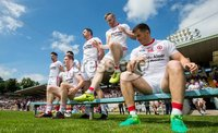 Ulster GAA Senior Football Championship Final, St Tiernach\'s Park, Clones, Co. Monaghan 16/7/2017. Down vs Tyrone. Tyrone players prepare for the team photo. Mandatory Credit ©INPHO/Morgan Treacy