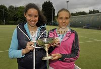 ©Russell Pritchard / Presseye  - 9th June 2012. Tennis : Ulster Senior Open at Belfast Boat Club.. Ladies Doubles (A) Final between Karola Bejenaru / Lucy Octave v Kerri Russell / Alexis Russell. Winners Lucy Octave and Karola Bejenaru. ©Russell Pritchard / Presseye