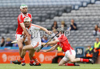 Nickey Rackard Final, Croke Park, Dublin 9/6/2012. Armagh vs Louth. Armagh\'s Cathal Carvill with Shane Callan and Ronan Byrne of Louth. Mandatory Credit ©INPHO/Ryan Byrne