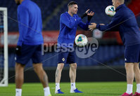 Press Eye - Belfast, Northern Ireland - 09th October 2019 - Photo by William Cherry/Presseye. Northern Ireland\'s Kyle Lafferty during Wednesday nights training session at Stadium Feijenoord ahead of Thursday nights UEFA Euro 2020 Qualifier against Netherlands in Rotterdam. Photo by William Cherry/Presseye