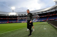 Press Eye - Belfast, Northern Ireland - 09th October 2019 - Photo by William Cherry/Presseye. Northern Ireland manager Micheal O\'Neill during Wednesday nights training session at Stadium Feijenoord ahead of Thursday nights UEFA Euro 2020 Qualifier against Netherlands in Rotterdam. Photo by William Cherry/Presseye