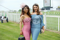 Press Eye - Belfast - Northern Ireland - 7th May 2018  - . May Day Meeting at Down Royal Racecourse.. Sarah-Jayne McGill and Ellen Moloney pictured at the County Down racecourse.. Photo by Kelvin Boyes / Press Eye .