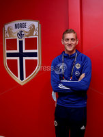Press Eye - Belfast, Northern Ireland - 13th October 2020 - Photo by William Cherry/Presseye. Northern Ireland\'s George Saville during Tuesday nights walk around the Ullevaal Stadium pitch at ahead of Wednesdays UEFA Nations League game against Norway in Oslo. Photo by William Cherry/Presseye