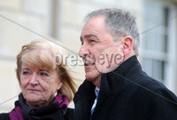 Press Eye - Belfast - Northern Ireland - 18th February 2020. Parents of a County Fermanagh man who took his own life as a result of a gambling addiction attend event at Stormont in east Belfast  hoping to see stricter laws.  Lewis Keogh was 34 when he died by suicide in 2013 and was about 50,000 in debt.  His parents hope to raise awareness of stricter gambling regulations which they say may have helped their son. Peter and Sadie Keogh pictured at Stormont. . Picture by Jonathan Porter/PressEye