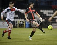 . Danske Bank Premiership, Seaview, Belfast 13/1/2018. Crusaders vs Ards. Crusaders Philip Lowry in action with Ards. Mandatory Credit ©INPHO/Stephen Hamilton