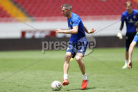 Press Eye - Belfast -  Northern Ireland - 02nd June 2018 - Photo by William Cherry/Presseye. Northern Ireland\'s Aaron Hughes pictured during Saturday mornings training session at the Nuevo Estadio Nacional de Costa Rica in San Jose ahead of Sundays Friendly International against Costa Rica.. Photo by William Cherry/Presseye