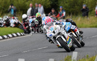 Mandatory Credit: Rowland White / PressEye. ULSTER GRAND PRIX. Venue: Dundrod. Date: 12th August 2017. Class: SUPERSPORT RACE 2. Caption: Lee Johnston leading the pack