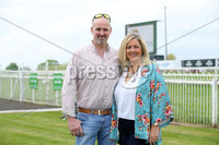 Press Eye - Belfast - Northern Ireland - 7th May 2018  - . May Day Meeting at Down Royal Racecourse.. Paul and Belinda Johnston pictured at the County Down racecourse.. Photo by Kelvin Boyes / Press Eye .