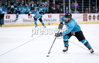 Press Eye - Belfast -  Northern Ireland - 24th August 2019 - Photo by William Cherry/Presseye . Belfast Giants\' Jesse Forsberg during Saturday nights Exhibition Game against Herning Blue Fox at the SSE Arena, Belfast.    Photo by William Cherry/Presseye