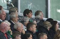 Press Eye - Belfast - Northern Ireland - 9th September 2019 - Picture Matt Mackey / Press Eye.. EURO qualifier 2020 Stadium at Windsor Park, Belfast. Northern Ireland Vs Germany.. Arlene Foster watches the game along with Pat Jennings.