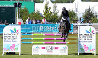 Press Eye - Belfast - Northern Ireland - 16th May 2018. First day of the 2018 Balmoral Show, in partnership with Ulster Bank, at Balmoral Park.  Horse show jumping in the parade ring. . Picture by Jonathan Porter/PressEye