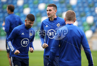 Press Eye - Belfast, Northern Ireland - 01st September 2020 - Photo by William Cherry/Presseye. Northern Ireland\'s Kyle Lafferty during Tuesday mornings training session at the National Stadium at Windsor Park, Belfast ahead of Friday nights Nations League game in Romania.    Photo by William Cherry/Presseye