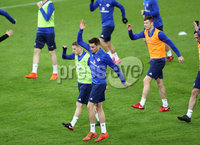 Press Eye - Belfast -  Northern Ireland - 11th November 2017 - Photo by William Cherry/Presseye. Northern Ireland\'s Matthew Lund during Saturday nights training session at St. Jakob-Park ahead of Sunday nights World Cup Play Off against Switzerland in Basel.