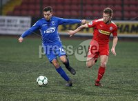 Danske Bank Premiership, Solitude, Belfast 1/12/2018 . Cliftonville vs Dungannon Swifts. Mark Patton Dungannon and Chris Curran Cliftonville. Mandatory Credit INPHO/Freddie Parkinson