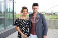 Press Eye - Belfast - Northern Ireland - 7th May 2018  - . May Day Meeting at Down Royal Racecourse.. Lisa Stewart and Chris Brennan pictured at the County Down racecourse.. Photo by Kelvin Boyes / Press Eye .