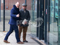 Press Eye - Belfast - Northern Ireland - 30th November 2018. . The Detail journalists Barry McCaffrey(right) and Trevor Birney pictured entering PSNI Musgrave Street Station where for further questioning after they were recently arrested regarding allegedly stolen information which appeared in the documentary \'No Stone Unturned\'.  The documentary told the story of the murder of six men by the UVF in a pub in Loughinisland, Co. Down. . The NUJ also held a protest outside the station in support of the two journalists. . Picture by Jonathan Porter/PressEye