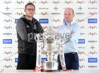 Press Eye Northern Ireland . Thursday 6th December 2018. Picture by Jonathan Porter  / Press Eye . . 5th Round Draw of the Tennent\'s Irish Cup that took place today in Pat Jennings Lounge, National Football Stadium at Windsor Park.. Kris Lindsay Dungannon Manager and Barry Gray Cliftonille Manager