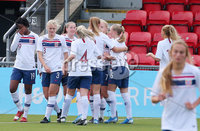 Press Eye - Belfast - Northern Ireland - 8th October 2019. European Women\'s U19 Championship 2020 Qualifying Round -  Northern Ireland Vs Norway, Seaview. Norway score to make it 0-1. . Picture by Jonathan Porter/PressEye