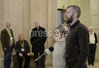 Presseye.com. 21/10/2019. Gerry Carrol from people before profit pictured at Stormont where local MLAs returned to the chamber to debate laws on abortion and same sex marriage which will change at midnight  tonight .. Mandatory Credit Stephen Hamilton /Presseye