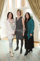 Press Eye - Belfast - Northern Ireland - Saturday 10th March 2012 -  Candy Plum fashion show at Hillsborough Castle. Mandy Wilson, Kim Scott and Jill McCandless. Picture by Kelvin Boyes / Press Eye .