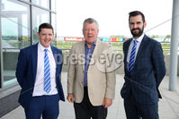 Press Eye - Belfast - Northern Ireland - 7th May 2018  - . May Day Meeting at Down Royal Racecourse.. Pauric McGurn, Terence Donnelly and Niall Moane pictured at the County Down racecourse.. Photo by Kelvin Boyes / Press Eye .