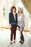 Press Eye - Belfast - Northern Ireland - Saturday 10th March 2012 -  Candy Plum fashion show at Hillsborough Castle. Michelle Quinn and Audrey Robinson. Picture by Kelvin Boyes / Press Eye .