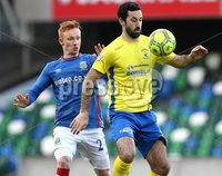 Danske Bank Premiership, Windsor Park, Belfast 2/12/2017 . Linfield vs Dungannon Swifts. Linfield\'s Robert Garrett and Johnny Lafferty of Dungannon Swifts. Mandatory Credit ©INPHO/Brian Little