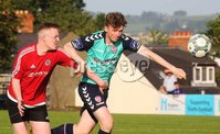 ©/Presseye.com - 17th July 2017.  Press Eye Ltd - Northern Ireland - Hughes Insurance Foyle Cup 2017- U-17 - Derry City V Willowbank FC (Belfast). Derry\'s Aaron McGurke and Williowban\'s Padraig Harris..  . Mandatory Credit Photo Lorcan Doherty / Presseye.com