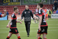 . Danske Bank Premiership Play-Off, Seaview, Belfast 14/4/2018 . Crusaders vs Linfield. Mandatory Credit ©INPHO/Stephen Hamilton. Crusaders manager Stephen Baxter