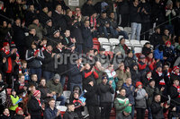 Danske Bank Premiership, Solitude Belfast, Co Antrim 10/03/2018. Cliftonville  vs Crusaders . Cliftonville\'s fans in a minutes applause for Freddie Jardine who passes away. Mandatory Credit ©INPHO/Stephen Hamilton.