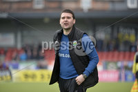 . Danske Bank Premiership Play-Off, Seaview, Belfast 14/4/2018 . Crusaders vs Linfield. Mandatory Credit ©INPHO/Stephen Hamilton. Linfields manager David Healy
