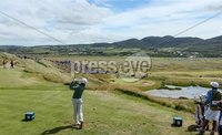 2018 Dubai Duty Free Irish Open - Day 1, Ballyliffin Golf Club, Co. Donegal 5/7/2018. Rory McIlroy tees off at the seventh hole. Mandatory Credit ©INPHO/Oisin Keniry