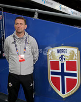 Press Eye - Belfast, Northern Ireland - 13th October 2020 - Photo by William Cherry/Presseye. Northern Ireland\'s Ian Baraclough during Tuesday nights walk around the Ullevaal Stadium pitch at ahead of Wednesdays UEFA Nations League game against Norway in Oslo. Photo by William Cherry/Presseye