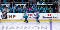 Press Eye - Belfast -  Northern Ireland - 11th January 2019 - Photo by William Cherry/Presseye. Belfast Giants Patrick Dwyer celebrates scoring against HK Gomel during Friday nights Continental Cup Final game at the SSE Area, Belfast.   Photo by William Cherry/Presseye