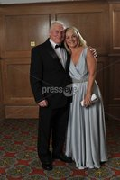 11/11/11 Belfast. Europa Hotel. Mari Curie Time Ball. John Callaghan and daughter . Kathy Loudgridge.