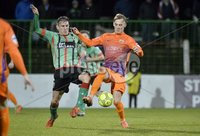 . Danske Bank Premiership,The Oval Belfast 14/11/2017. Glentoran v Glenavon. Mandatory Credit ©INPHO/Stephen Hamilton. Glentorans Marcus Kane  in action with Glenavons Mark Sykes